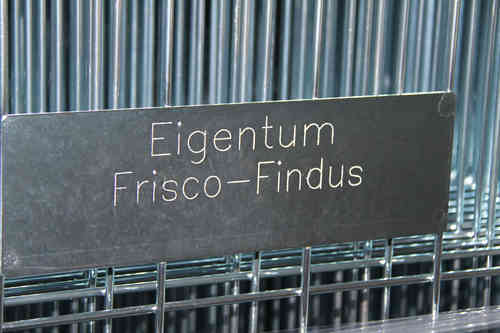 engraved property sign